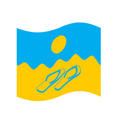 summer flag symbol of solar state beach and vector image