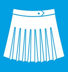Tennis female skirt icon white vector