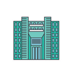 tower skyscraper line icon concept tower vector image