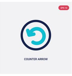 Two color counter arrow icon from arrows concept vector