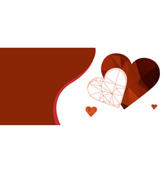 valentine card with two heart vector image