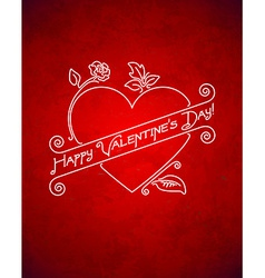 Vintage grungy valentines day card vector