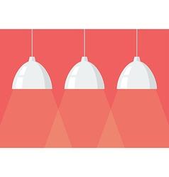 White pendant lamps vector