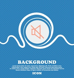 without sound mute sign icon Blue and white vector image
