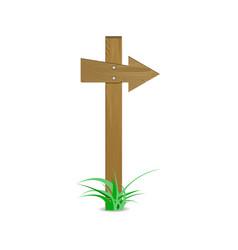 wood arrow sign vector image