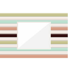 wooden picture frame or window frame modern vector image