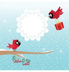 Birds in winter vector image