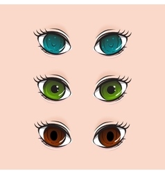 Different set of eyes vector