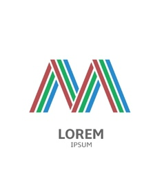 LOREM ipsum M vector image vector image