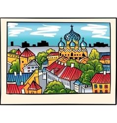 night Medieval Old Town Tallinn Estonia vector image vector image