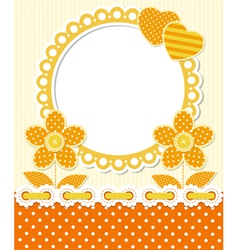 Retro style scrapbook floral frame vector image vector image