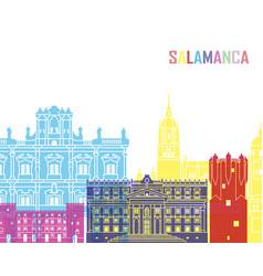 salamanca skyline pop vector image vector image