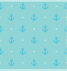 seamless pattern with anchor texture for clothes vector image vector image