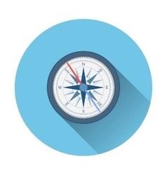 stylish flat design white Compass Icon vector image vector image