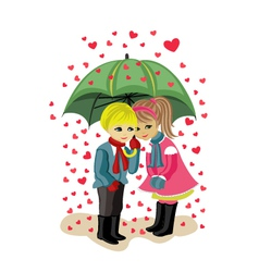 valentines day girl and boy vector image