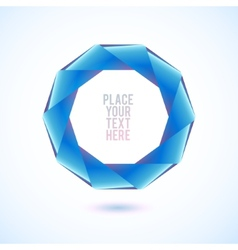Blue decagon shape on white background vector image
