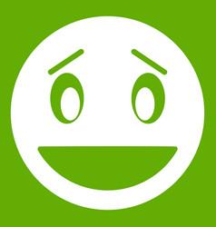 confused emoticon green vector image