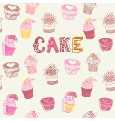 Cupcake Pattern vector image vector image