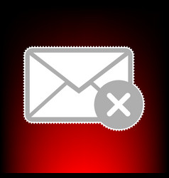 mail sign with cacel mark postage vector image