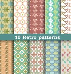 10 retro pattern vector image