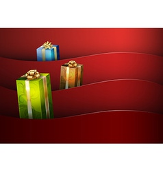 christmas background red stripe wave vector image
