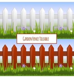 Garden fence pattern vector image vector image