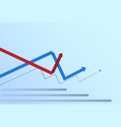 Graphic set finance arrows chart infographic vector