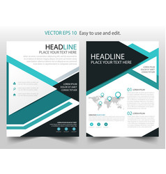 green triangle brochure annual report flyer vector image