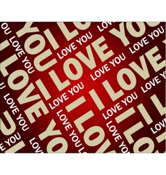 love text wallpaper vector image vector image