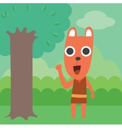 Raccoon In Forest vector image vector image