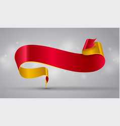 red and gold curved ribbon or banner vector image