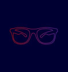 sunglasses sign line icon vector image