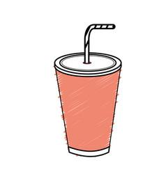 Tasty soda drink beverage vector