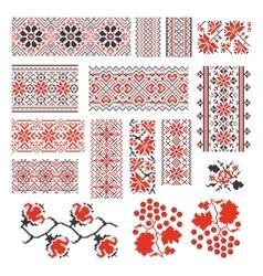 Ukrainian ethnic national seamless patterns vector image