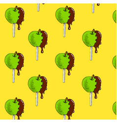 apple in chocolate vector image vector image