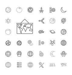 33 sphere icons vector image