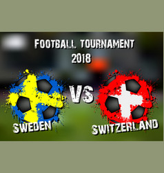4301 - sweden vs south korea vector image
