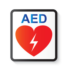 Aed automated external defibrillator vector