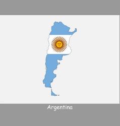 Argentina map flag vector