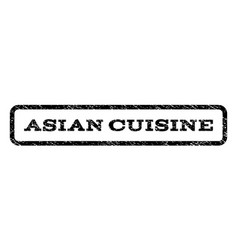 asian cuisine watermark stamp vector image
