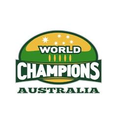 Australia world champions vector