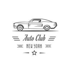 Auto club logotype vector