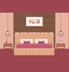 bedroom interior colorful vector image