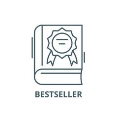 best seller line icon best seller outline vector image