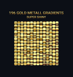 big set of gold gradient templates shiny vector image