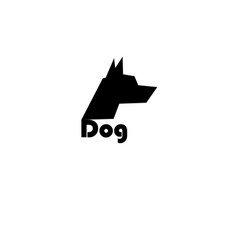 black symbol isolated dog face vector image