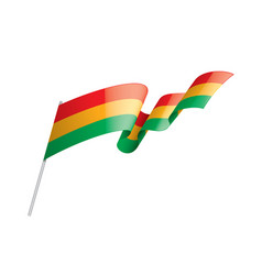 bolivia flag on a white vector image