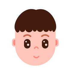 Boy head with facial emotions avatar character vector