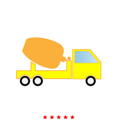cement mixers truck it is icon vector image
