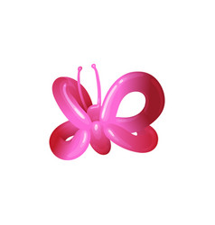 children party balloon pink butterfly toy vector image